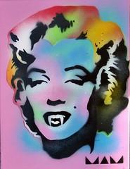 Vampire Marilyn (MAM Helsinki City) Tags: streetart art graffiti helsinki stencil handmade vampire banksy nike system urbanart andywarhol horror spraypaint stencilart waltdisney notbanksy katutaide stencilporn andywarholmarilynmonroe mamhelsinki vampiremarilyn
