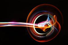 Switchblade. (darrenhopkins) Tags: lightpainting phoenix blackbackground sony colourful blades godspeed lightart oneexposure sonya7 klarus liteblades