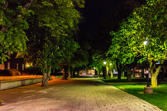 Central Washington at Night (JustinMullenPhotography) Tags: school trees sky green college nature grass campus washington university central roads