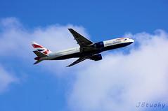 British Airways ~ Boeing 777-236 ~ G-ZZZB (jb tuohy) Tags: london plane airplane heathrow aircraft aviation flight jet aeroplane boeing britishairways takeoff 777 airliner avion lhr planespotting b772 gzzzb