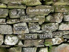 graffiti (Eagle-Wings) Tags: writing graffiti words hurt text hate stonewall warriors humannature
