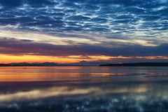 Morning Reflections in Sidney, BC (C McCann) Tags: ocean morning sea sky cloud canada reflection water clouds sunrise reflections dawn bc pacific britishcolumbia calm vancouverisland westcoast sidney daybreak salishsea harostrait