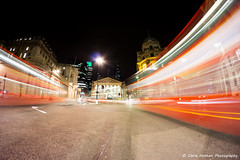(Claire Hutton) Tags: city uk longexposure winter light urban motion cold bus london buses night speed dark lens lights movement traffic capital trails bank fisheye le mansionhouse samyang8mm sonya6000