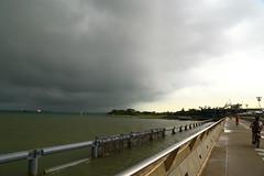 You'd better run! (Davide C.77) Tags: sea storm water rain clouds marina canon bay singapore asia barrage marinabay marinabarrage canon6d