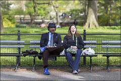 CI0A3424 (Damien DEROUENE) Tags: street nyc people newyork bench couple centralpark yawn headphone damienderouene