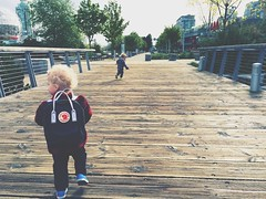 FRIENDS (aaronleevani) Tags: canada boys vancouver spring bc friendship falsecreek olympicvillage iphone fjallraven iphonephotography