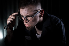 It's Hard to Explain. (Aphotic Gloom Photography) Tags: portrait self 50mm glasses noir cigarette dirty mechanic canon6d