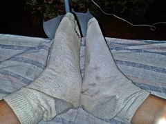 white/gray Hanes ankle sock 13 (nettie83_2000) Tags: socks sock dirty sweaty smelly hanes dirtysock