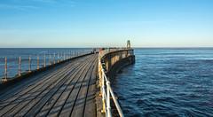 Whitby Pier (dandraw) Tags: winter sea sky seascape water vanishingpoint seaside fishing nikon waves horizon whitby whitbypier nikkor18200mm d7100
