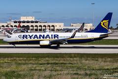 Ryanair --- Boeing 737-800 --- EI-EVM (Drinu C) Tags: plane aircraft aviation sony boeing ryanair dsc 737 mla 737800 lmml hx100v eievm adrianciliaphotography