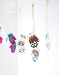 Shrink Plastic Mittens (wildolive) Tags: winter kids diy garland mittens shrinkydink wildolive handmadecharlotte