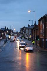 dusk in St. Mary's Road, Garston (Towner Images) Tags: road street city light copyright cars liverpool twilight traffic dusk illuminated merseyside hiviz towner garston stmarysroad illumionation townerimages