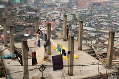Unfinished (educastellano) Tags: street city travel roof urban india building rooftop architecture out concrete asia mess cityscape indian clothes hang kohima nagaland