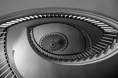 Eye      [Explored 1/16/2016 #10] (Valentina Sokolskaya) Tags: bw lines architecture stairs pattern interior pa mansion exhibits winterthur absolutearchitecture flickrchallengegroup flickrchallengewinner 15challengeswinner challengegamewinner