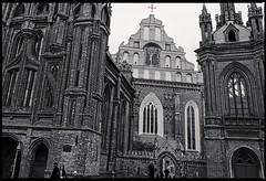 St Anne church (travelben) Tags: bw brick church architecture churches eu nb unescoworldheritage lithuania vilnius stanne