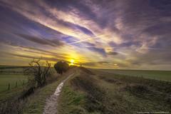 Devil's Dyke (eFRAME.co.uk) Tags: sky grass clouds sunrise landscape framed framer frame framing hdr pictureframes photoframes devilsdyke eframe eframecouk 241211 20120604