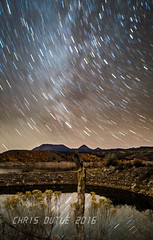 Galactic Storm (montusurf) Tags: night way stars long exposure desert trails reflect galaxy milky
