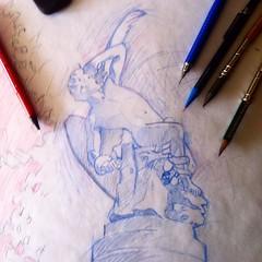 3 versin y Boceto definitivo para una comisisin de la estatua del Angel Cado de Ricardo Bellver. Muy pronto comenzar el dibujo final. #retiromadrid #angelcaido #boceto #sketch (Jose Rubies) Tags: madrid illustration pencils square sketch squareformat pencilsketch ilustracion boceto parquedelretiro angelcaido retiropark lapiceros bluepencil lapizazul iphoneography bocetoalapiz instagramapp uploaded:by=instagram