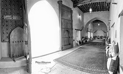 Old sitting room for men in Nakhal Fort (mahernaamani) Tags: old light blackandwhite bw panorama white black men art history architecture canon design blackwhite sitting arch fort room pano middleeast panoramas meeting indoor sittingroom east architect arab historical middle oman muscat 6d     sultanateofoman omani sultanate    24105mm    ilovemycountry     nakhal mylovelycountry       nakhalfort canon6d    myoman