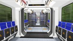 Neue Zge fr die Berliner S-Bahn - Fahrgastraum 2 (metr0p0litain) Tags: train interior transport zug sbahn innenraum rendering nahverkehr transportmittel