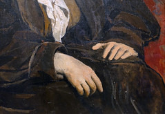 Picasso, Portrait of Gertrude Stein (detail of hands), 1905-06
