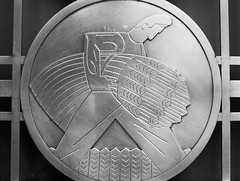 men at work 07 (yyzfoto) Tags: toronto stainlesssteel artist baystreet 1937 medallions torontostockexchangebuilding charlesfrasercomfort190094