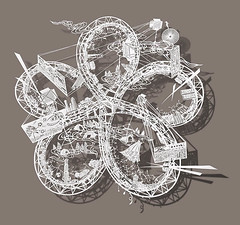 Incredibly Detailed Twisting Rollercoasters Paper-Cut by Bovey Lee (jh.siesta) Tags: papercut detailed rollercoasters twisting incredibly bovey