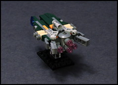 "The ""Solar Hawk"" - CDY-820 Wasp Class Freighter (Rphilo004) Tags: ship lego space micro spaceship spacecraft freighter moc microspace microscale"
