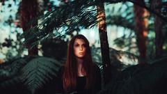 simona (David Schermann) Tags: vienna wien light shadow red woman girl hair palms ginger woods nikon bokeh redhead jungle re palmenhaus palmen