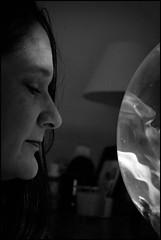 Soligor Wide-Auto F2.8 35mm - B&W -  Lisa & the Fish Tank (TempusVolat) Tags: portrait blackandwhite bw woman white black cute sexy slr love girl monochrome beautiful beauty face loving digital canon hair eos mono eyes pretty mr profile lisa spouse attractive beautifulwoman wife brunette lover lovely dslr mole loved canoneos gareth mygirl mywife tempus demure prettyface farge verypretty morodo beautifulface beautifulwife verybeautiful cutewife 60d prettywife beautifulbrunette attractivewife volat canoneos60d garethw eos60d wonfor mrmorodo garethwonfor lisafarge tempusvolat picmonkey lisawonfor