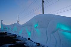 Dino Snow Wall pb (Patricia Bourque Photographer) Tags: events pei snowfestival jackfrost jackfrost2016