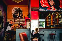 good company (Zlatko Vickovic) Tags: street city shadow red people urban music color rock contrast cafe amy serbia streetphotography lightandshadow novisad vojvodina srbija tinaturner rockcafe streetcolor zlatko vickovic zlatkovickovicphotography