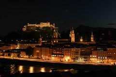 Salzburg At Night (xmibux) Tags: city autumn winter summer panorama salzburg night lights austria sterreich spring nacht sommer herbst historic stadt altstadt fortress lichter frhling festung salzach historisch