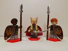 Elf King and his royal guard (Nilbog Bricks) Tags: king lego guard royal elf lotr fantasy minifig custom hobbit minifigures brickarms brickforge thranduil