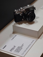 Olympus Pen-F camera at The Photography Show. (kyliepics) Tags: olympus e520 evolt520 om50mmf18 gimp addedtogroups