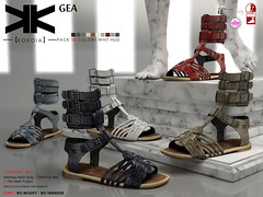 Gea :: Shoes :: 10 Colors ({kokoia}) Tags: summer woman shoes mesh roman sandals casual gea gladiator tmp maitreya slink secondlfie kokoia themeshproject