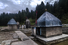 The Giri Ganga Temple at the Origin of the River (Anoop Negi) Tags: sculpture india water river temple photography photo hp tank top religion slate hindu anoop source himachal ganga khara pradesh negi giri patthar ezee123 hindusim