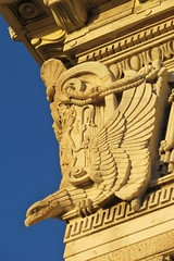 A Cunard Building eagle (lady.bracknell) Tags: sunset liverpool golden eagle threegraces pierhead cunardbuilding