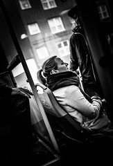 On the bus (Henka69) Tags: people monochrome göteborg publictransit publictransportation candid gothenburg commuter 24mm publictransport