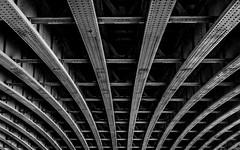 Under Blackfriars Railway Bridge (Warren Brendan McCann) Tags: bridge london monochrome westminster canon mono bigben blackfriars canong1x
