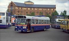 WMT 1013, Wolverhampton Bus Station, 1994 (Lady Wulfrun) Tags: bus station august national tuesday 1994 9th leyland wolverhampton 1013 wmt