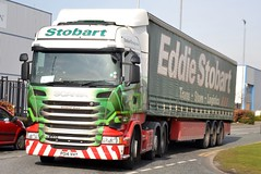 Stobart H199 PO14 VHY Elizabeth Grace at Appleton 26/2/16 (CraigPatrick24) Tags: road truck cab transport lorry delivery vehicle trailer scania logistics appleton stobart elizabethgrace eddiestobart curtainsider h199 stobartgroup scaniar440 po14vhy stobartcurtainsider