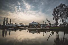 Sawley Marina (Steve Millward) Tags: longexposure sky cloud reflection water wide wideangle d750 20mm ultrawide sawleymarina