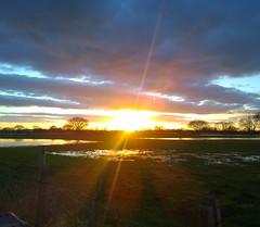 Farewell (GOHughes) Tags: light sunset sky nature reflections lenseflare landscape countryside dusk sillouette