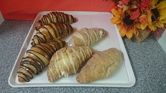 Bavarian cream croissant and Cream cheese churro croissant (tasteoflovebakery) Tags: cheese cream croissant bavarian churro
