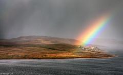 Isle of Ewe, Loch Ewe, Wester Ross (Michael Leek Photography) Tags: light sea sun sunlight mist lake rain weather fog clouds landscape island scotland highlands rainbow loch hdr highdynamicrange inclementweather scottishhighlands lochewe scottishlandscapes scottishlochs isleofewe scottishcoastline scotlandslandscapes michaelleek michaelleekphotography
