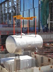 Transferring  one of the bigger water detritiation tanks weighing approximately 20 tonnes to ITERs Tritium building (Fusion for Energy) Tags: project big nuclear fusion f4e iter