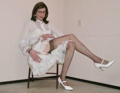 Suspenders and stockings. (sabine57) Tags: stockings drag tv pumps highheels cd skirt crossdressing blouse tgirl transgender tranny transvestite crossdresser crossdress petticoat nylons travestie transvestism