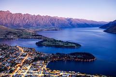 QUEENSTOWN, OTAGO REGION, NEW ZEALAND. (amrilizan photography) Tags: above newzealand sky urban mountain skyline town twilight queenstown gondola urbantwilight
