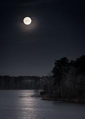 DSC_0370 A (Cameron Bumgarner Photography) Tags: moon lake reflection night dock moonrise crabtree